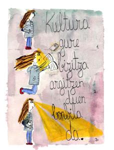Kultura gure bizitza argitzen duen bonbila da