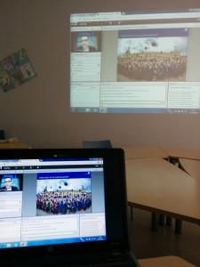 Onlinevortrag der Universität Potsdam. Im Bild sieht man den Herrn Studienberater D. Epple.