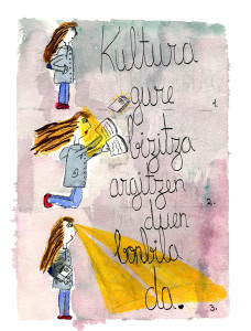 Premio concurso pintura - Kultura gure bizitza argitzen duen bonbila da