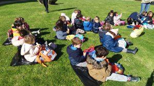 visita al parque de Aiete, alumnado del Deutsche Schule SAM,