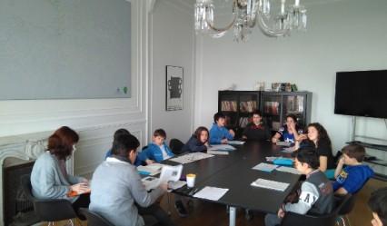 colegio aleman, alumnado visita la casa de la paz de Aiete, colegio concertado, Deutsche Schule San Alberto Magno