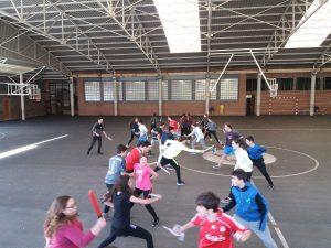 esgrima en el Deutsche Schule San Alberto Magno