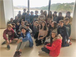 alumnado deutsche schule visita en al aquarium de san sebastian