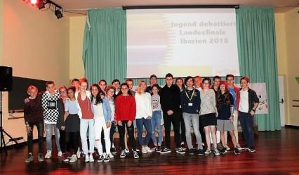 participantes final Jugend Debattiert Gran Caaria