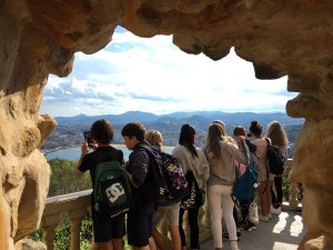 alumnado del Deutsche Schule enseña San Sebastián al almunado de Hürth