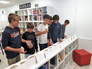 trabajo del alumnado del Deutsche Schule sobre valores