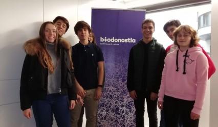 vista alumnado del colegio aleman a Biodonostia