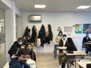 purificadores de aire en las aulas del Deutsche Schule de San Sebastián